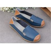 Buy cheap 2018 Genuine Leather Women's Flat Shoes Casual Loafers Soft Moccasins Ladys slip on Driving Shoes from wholesalers