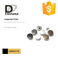 Buy cheap Round Shape High Shine 22L 24L Silver Shank Buttons product