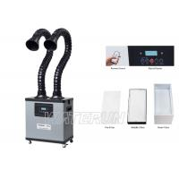200W Flexible Arm Solder Fume Extractor LED Display Low Noise