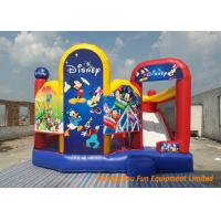 Buy cheap Cartoon Theme Funny Inflatable Bouncy Castle Slide Mickey air bouncer For Boys / Girls , 5*4.5*4m from wholesalers