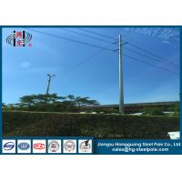 Buy cheap 10KV - 220KV 4mm Electric HDG Steel Tubular Pole , Yield Strength 345MPA product