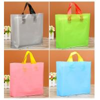 Buy cheap Multi Colored Custom Plastic Packaging Bags With Handle And Logo Printed from wholesalers
