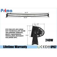 China Double Row 240W  42 Inch Curved LED Light Bar Spot / Flood / Combo Beam on sale