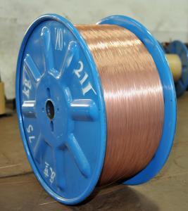 Buy cheap o Sn 0.36g/kg 1,7% revestido de bronze 98,3% cordas de fio de aço do Cu para a aviação alisa o revestimento 1.2mm product