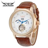 Buy cheap Hand Wind Precision Time Mens Automatic Watch With Brown Genuine Leather from wholesalers