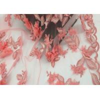 Buy cheap Water Soluble Orange Mesh Lace Fabric Embroidery Small Flower For Dress product