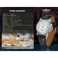 Quality Winner Fashion Ladies Automatic Watch / Silver Skeleton Three Hands Gift Watch for sale