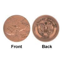 Buy cheap ARMY Token Commemorative Coins Huey UH - 1 Helicopter Military product