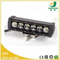 China 30W auto led light bar single row 4x4 atv led off road light bar on sale