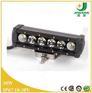 China 30w led light bar for car single row car led light bar wholesale