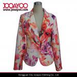 Buy cheap Ladies Floral Print Blazer Designs Long Sleeves Office Wear Coat product