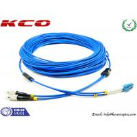 Buy cheap Multimode LC to FC Fiber Optic Patch Cord Duplex Armored Low Insertion Loss product