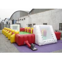 Buy cheap Commercial Large Inflatable Football Games Enviroment - Friendly PVC inflatable football field game for adult product