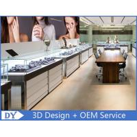 High End Stainless Steel Frame Jewelry Display Counter with Glass