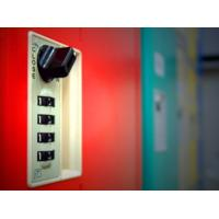 Buy cheap Factory Keyless ABS Plastic Lockers 5 Tier Red Door Changing Room Lockers product