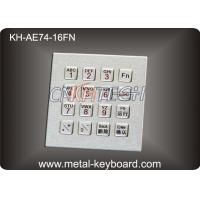 Buy cheap IP65 16 Keys Industrial Metal Keyboard with integrated functional Digital keypad product