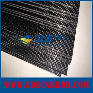 Buy cheap feuille adaptée aux besoins du client 3k de fibre de carbone de commande numérique par ordinateur tissée product
