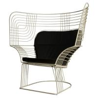 Buy cheap Outdoor Showroom Link Easy Chair Furniture With Varnished Steel Tom Dixon Design product