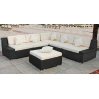 China Outdoor Rattan Furniture , Garden Sectional Sofa Set With Ottoman on sale