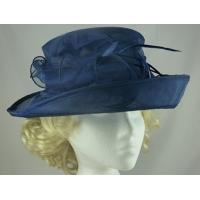 China Custom Color Novelty Occassion Collapsible Ladies Fashion Organza Hat With Adjustable Satin Sweatband on sale