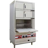 Buy cheap Commercial Three Door Gas Steamer Environmental Friendly Steam Cabinet product