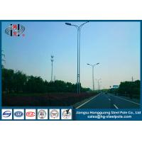 China Conical Tapered 15Meters Anti-corrosive Street Lighting Poles With  Arm on sale