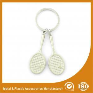 Buy cheap Promotional Badminton Racket Custom Metal Keychains 9mm Length product