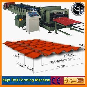 China Rollo esmaltado de la teja que forma la máquina wholesale