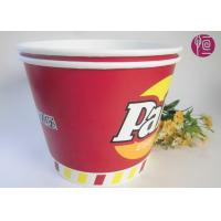Buy cheap 120oz Paper Popcorn Buckets Logo Printed , Disposable Popcorn Containers product