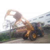 China LONKING wheel Loader with solid tyres  5ton wheel Loader with steel scrap clamp attachment on sale