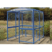 Buy cheap 33mm Aluminium Square Tubing for Smoking Shelter with Max of 3 Person Blue Painting 6063 T5 product