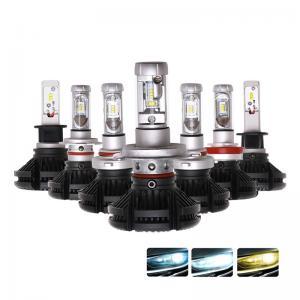 China Hot sale h4 h7 car led headlight X3 50W ZES 2nd G light source 9005 9006 led head light on sale