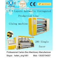 Buy cheap CE Corrugated Paper Carton Making Machine A B Flute Profiles 50Hz 380V  Three Phase product