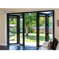 Quality Commerical Building Aluminium Folding Doors Energy Saving With Double Glazing Glass for sale