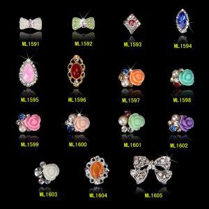 Buy cheap les décorations d'art de clou des bijoux 3D de mode de fleur de 3D Rose clouent le décor ML1591-1605 de beauté product