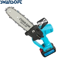Buy cheap 8 Inch 400W Mini Pruning Saw Electric Chainsaws Removable For Fruit Tree Garden Trimming With Lithium Battery One-Handed product