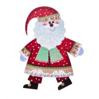 Buy cheap Christmas Holiday Decoration Glitter Stickers Santa Claus Gift Promotion Stickers 15*12 cm Large Design product