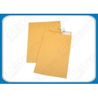 Buy cheap Plain Brown / Yellow Self-seal Packaging Kraft Paper Envelopes For Business , Gifts product