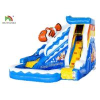 Buy cheap Commercial PVC Tarapulin Blue Mini Inflatable Water Slide For Sales from wholesalers