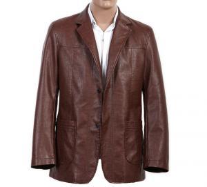 ビスコースおよび編む大きく、高い100%は2つのボタン ヨーロッパ メンズ スーツに革を張ります