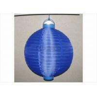 Buy cheap 30 Cm Led Paper Lanterns Battery Operated , Silk Nylon Fabric Outdoor Hanging Paper Lanterns product