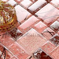 Buy cheap Self adhesive polishing mosaic custom designs to print red glass tile/red mosaic tile product