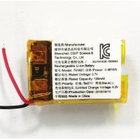 Buy cheap 130mah Rechargeable Lithium Polymer Battery / KC Approved 3.7Volt Li - Ion Battery product
