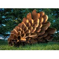 Buy cheap Large Garden Use Corten Steel Rusty Pine Cone Sculpture For Sale from wholesalers