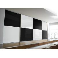 Black and White Color Safety Tempered  Glass Panel for Back Walls