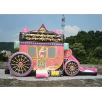Buy cheap Princess Carriage Inflatable Bouncy Castles With Lead Free PVC Tarpaulin Material product