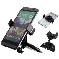 Buy cheap Adjustable Samsung Car Phone Holder , ABS Black Car CD Slot Mount product