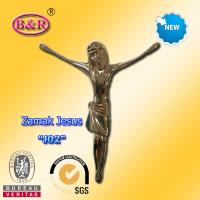 Buy cheap Metal Jesus Size 12.5*15cm Zinc Alloy Cross And Crucifix Part For Funeral Ritual Or Church product