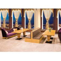 China Luxurious Upscale Upholstered Restaurant Furniture Booths / Waiting Benches on sale