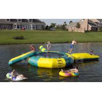 China  Inflatable Water Trampoline Combo For Lake , Water Trampoline With Slide  for sale